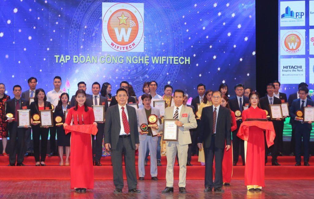 """Tập đoàn công nghệ Wifitech 2 năm liên tiếp vinh dự nhận giải """"Top 10 sản phẩm chất lượng vàng năm 2019"""""""